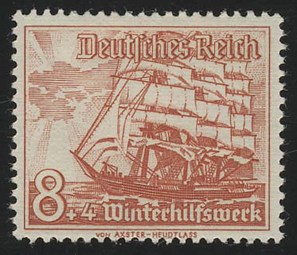 655 Winterhilfswerk Schiffe 8+4 Pf  ** 0