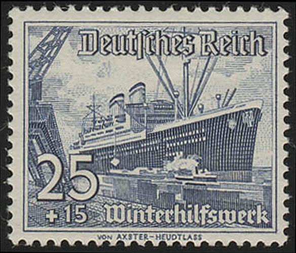 658 Winterhilfswerk Schiffe 25+15 Pf  ** 0