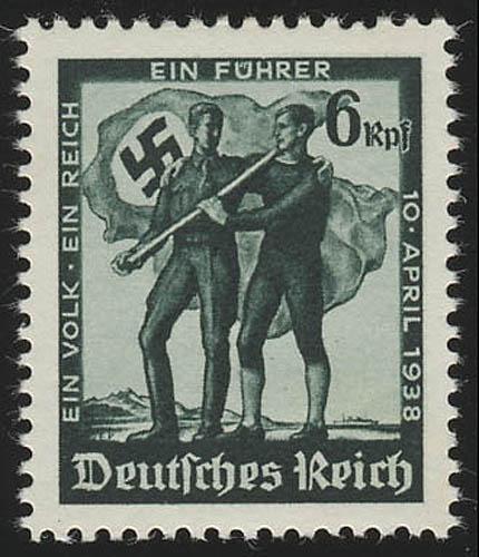 663 Volksabstimmung 1938, ohne WZ, ** 0