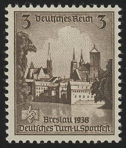 665 Turnfest Breslau 3 Pf ** 0