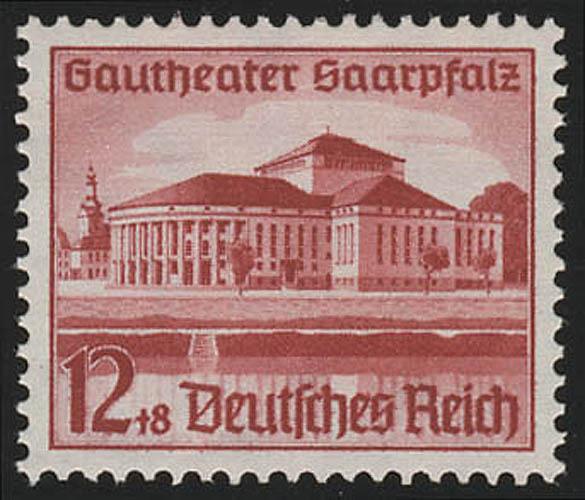674 Saarpfalz 12+8 Pf ** 0