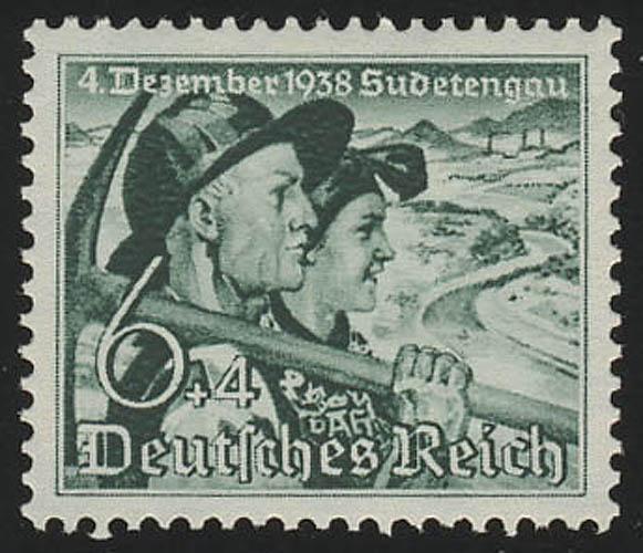 684y Sudetenland 6+4 Pf ** 0