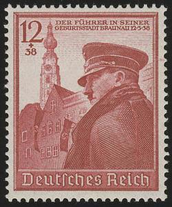 691 Hitlers Geburtstag 1939 - Marke **