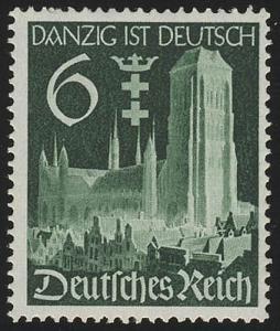 714 Wiedereingliederung Danzigs 6 Pf **