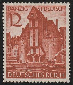 715 Wiedereingliederung Danzigs 12 Pf **