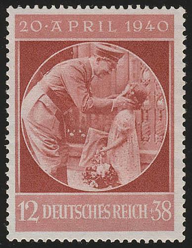 744 Hitlers Geburtstag 1940 - Marke postfrisch ** 0