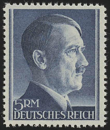 802A Hitler 5 Reichsmark ** WEIT gezähnt 0