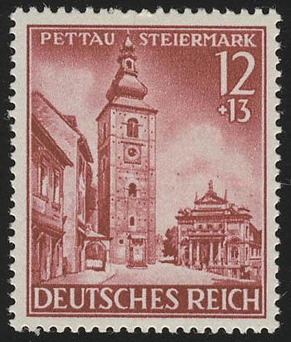 808 Eingliederung Pettau/Steiermark 12+13 Pf ** 0