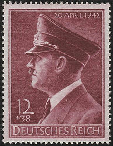 813y Hitlers Geburtstag 1942, waagerecht geriffelt ** 0