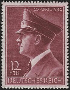 813y Hitlers Geburtstag 1942, waagerecht geriffelt **