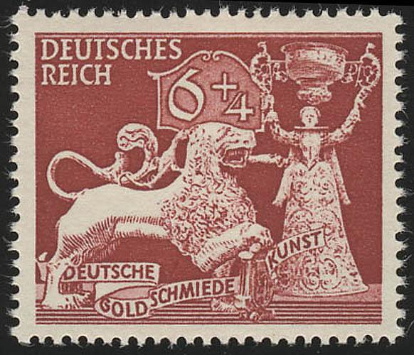 816 Gesellschaft für Goldschmiedekunst 6+4 Pf ** 0