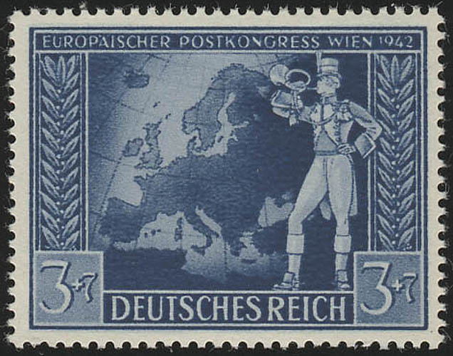 820 Europäischer Postkongreß Achsenmächte 3+7 Pf, postfrisch ** 0
