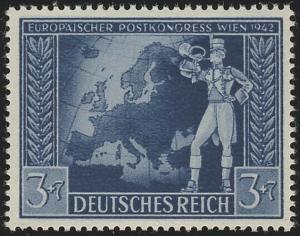 820 Europäischer Postkongreß Achsenmächte 3+7 Pf, postfrisch **