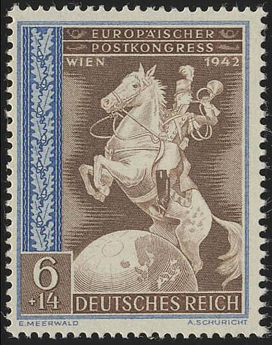 821 Europäischer Postkongreß Achsenmächte 6+14 Pf ** 0