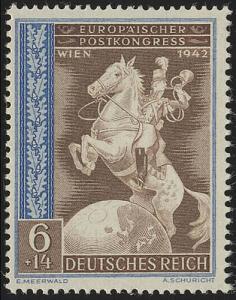821 Europäischer Postkongreß Achsenmächte 6+14 Pf **