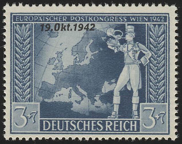 823 Übereinkommen Post-und Fernmeldeverein 3+7 Pf ** 0