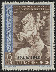 824 Übereinkommen Post-und Fernmeldeverein 6+14 Pf **