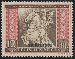 825 Übereinkommen Post-und Fernmeldeverein 12+38 Pf **