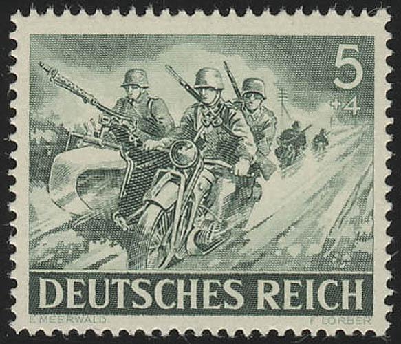 833x Tag der Wehrmacht / Heldengedenktag Kradfahrer 5 Pf ** 0
