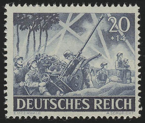 838x Tag der Wehrmacht / Heldengedenktag Leichte Flak 20 Pf ** 0