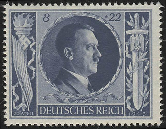 846 Hitlers Geburtstag 1943 8+22 Pf ** 0