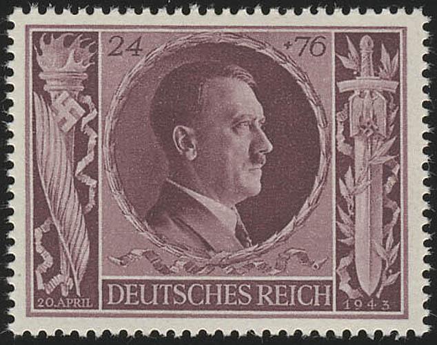 848 Hitlers Geburtstag 1943 24+76 Pf ** 0