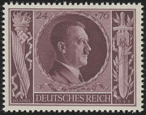 848 Hitlers Geburtstag 1943 24+76 Pf **