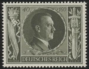 849 Hitlers Geburtstag 1943 40+160 Pf **
