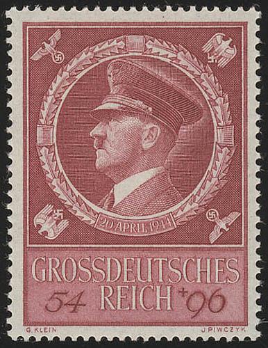 887 Hitlers Geburtstag 1944 - Marke ** 0