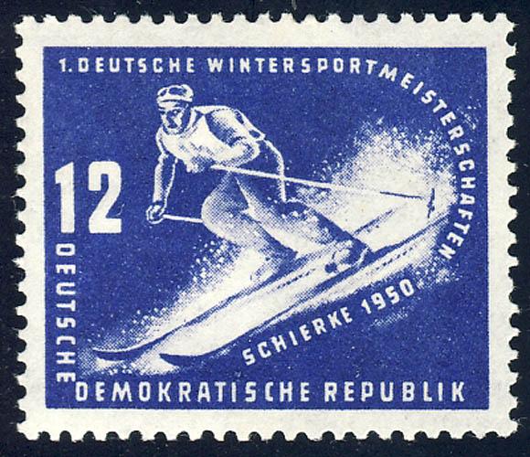 246 Wintersportmeisterschaften DDR 12 Pf ** 0
