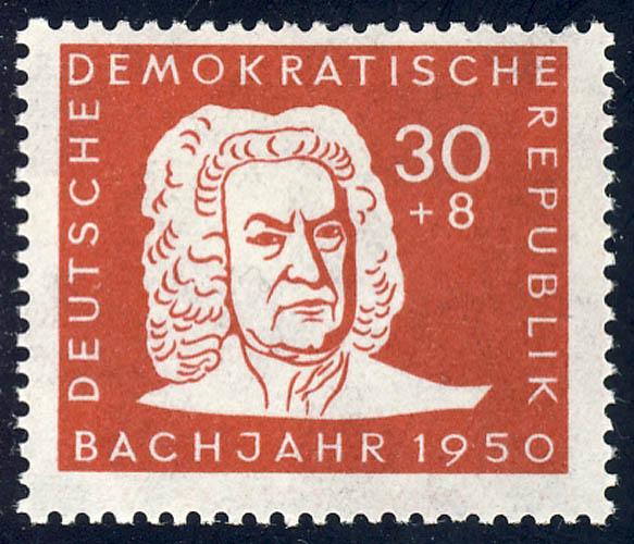 258 Johann Sebastian Bach 30+8 Pf ** postfrisch 0