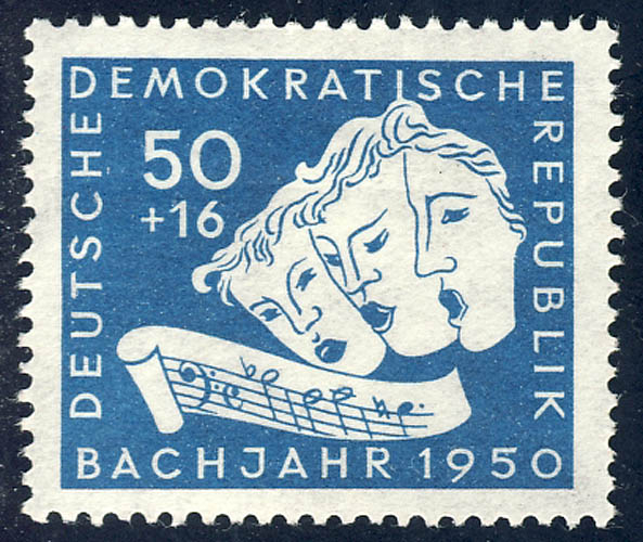 259 Johann Sebastian Bach 50+16 Pf ** 0