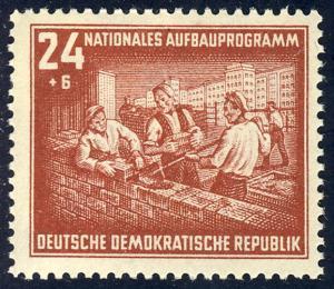 304 Nationales Aufbauprogramm Berlin 24+6 Pf **