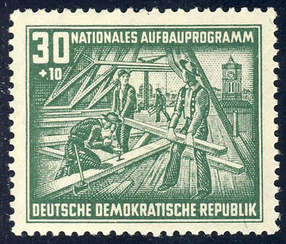 305 Nationales Aufbauprogramm Berlin 30+10 Pf ** 0