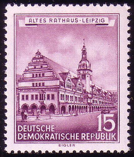 493 Historische Bauwerke 15 Pf Altes Rathaus ** 0