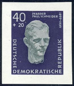 608B Buchenwald 40+20 Pf UNGEZÄHNT aus Block 15 **