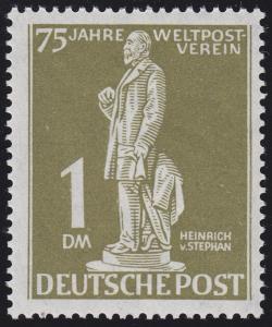 40 Weltpostverein Stephan 1 Mark ** geprüft