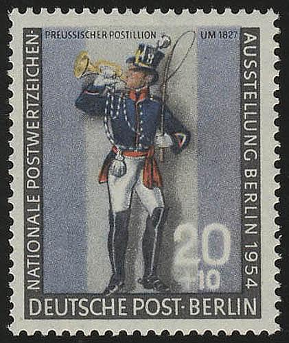 120a Nationale Postwertzeichen-Ausstellung Postillion ** 0