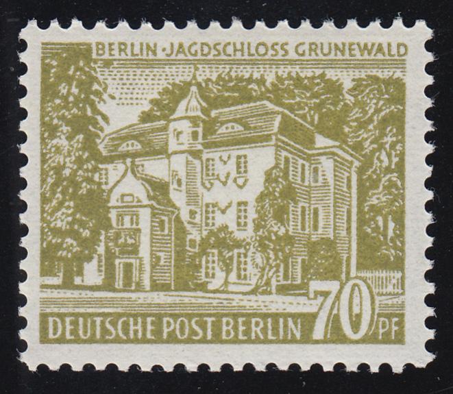 123 Berliner Bauten 70 Pf, Jagdschloß Grunewald ** geprüft 0
