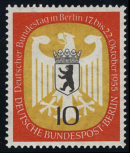 129 Bundestag Berlin 10 Pf ** 0
