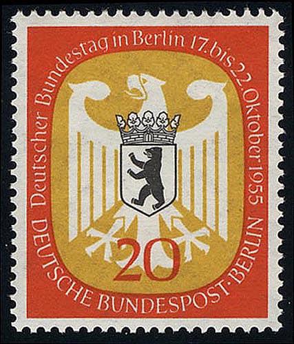 130 Bundestag Berlin 20 Pf ** 0