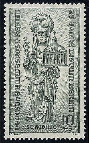 133 Bistum Berlin 10+5 Pf Patronin von Schlesien ** 0