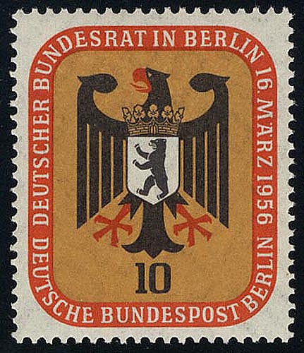 136 Bundesrat Berlin 10 Pf ** 0