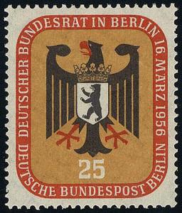 137 Bundesrat Berlin 25 Pf **