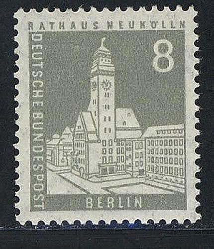 143 Berliner Stadtbilder Rathaus Neukölln 8Pf ** 0