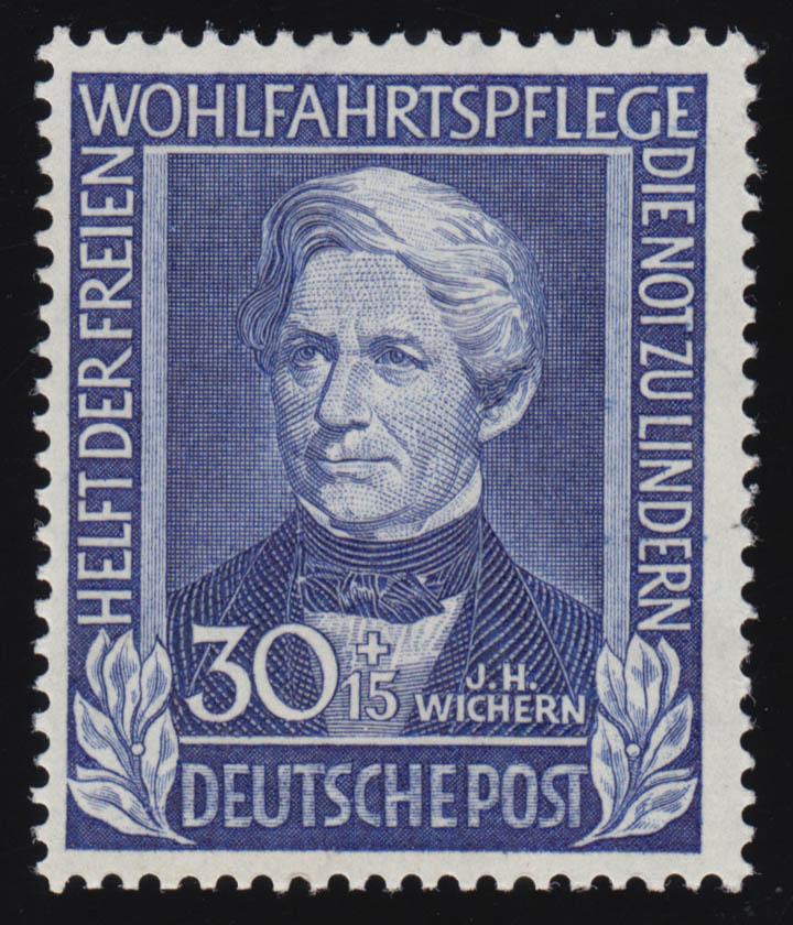 120 Johann Hinrich Wichern 30+15 Pf, ** geprüft BPP 0
