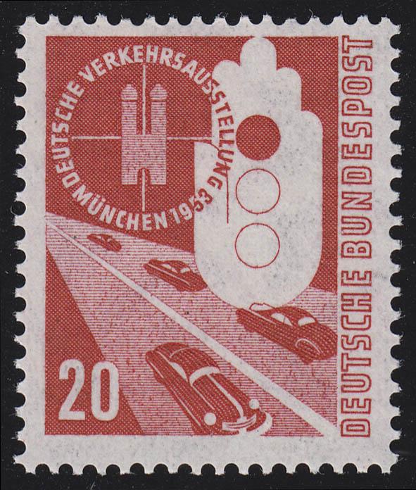 169 Verkehrsausstellung 20 Pf ** 0