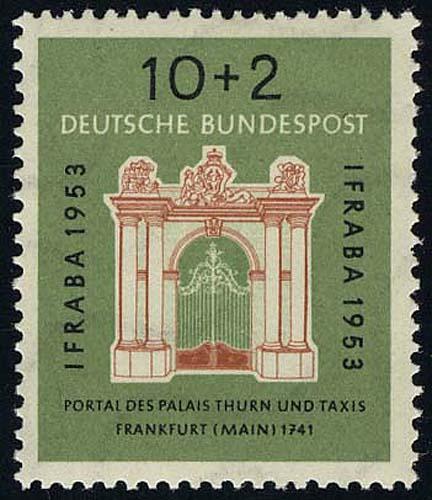 171 IFRABA 1953 10+2 Pf ** geprüft BPP 0