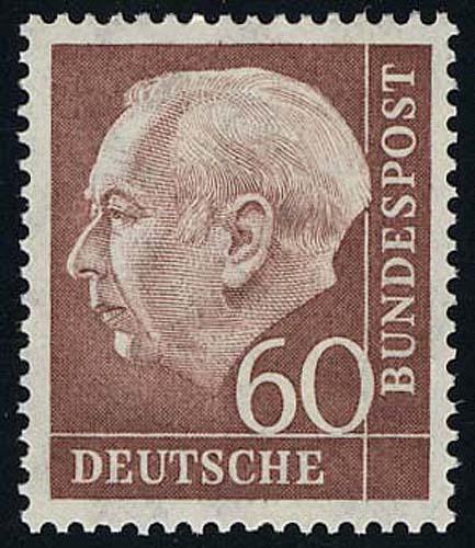 190 Heuss 60 Pf postfrisch ** 0