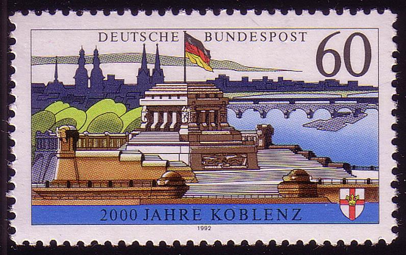 1583y Koblenz, mit Fluoreszenz, postfrisch 0